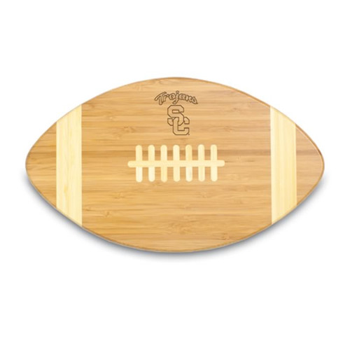 USC Trojans Engraved Football Cutting Board