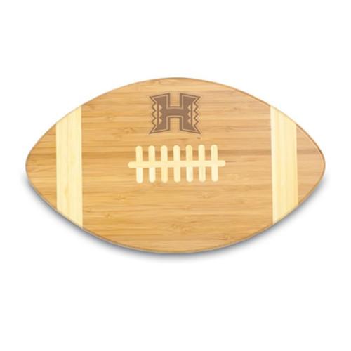 Hawaii Rainbows Engraved Football Cutting Board