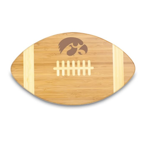 Iowa Hawkeyes Engraved Football Cutting Board
