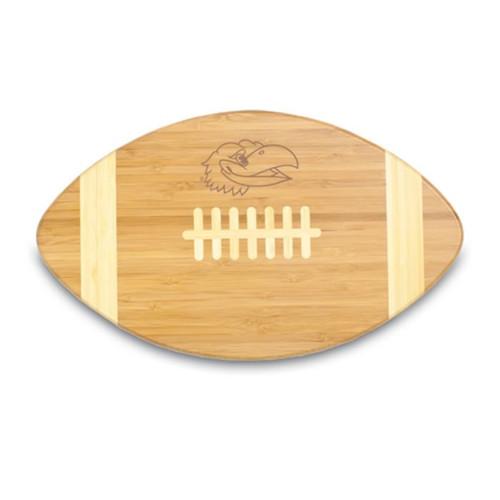 Kansas Jayhawks Engraved Football Cutting Board