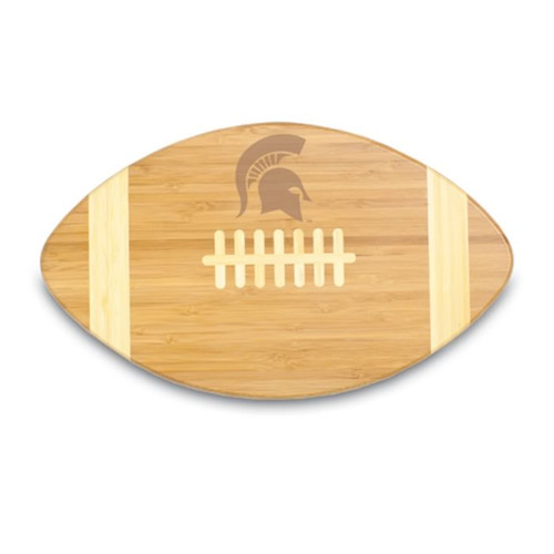 Michigan State Spartans Engraved Football Cutting Board