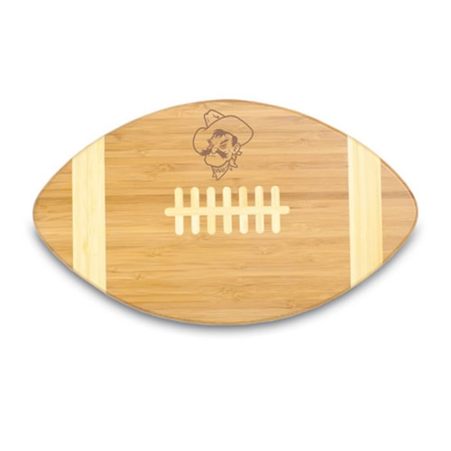 Oklahoma State Cowboys Engraved Football Cutting Board
