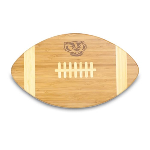 Wisconsin Badgers Engraved Football Cutting Board