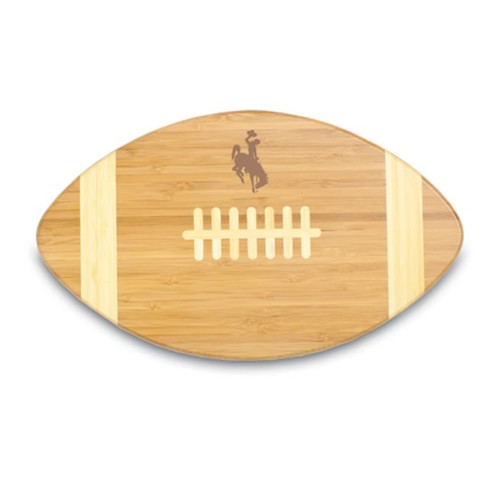 Wyoming Cowboys Engraved Football Cutting Board