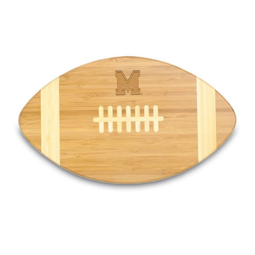 Memphis Tigers Engraved Football Cutting Board