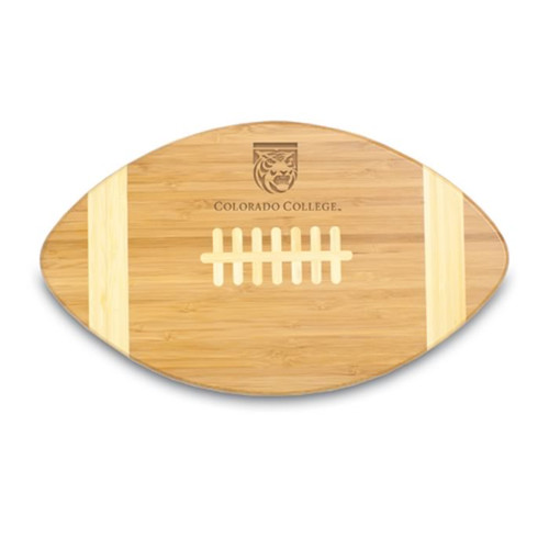 Colorado College Tigers Engraved Football Cutting Board
