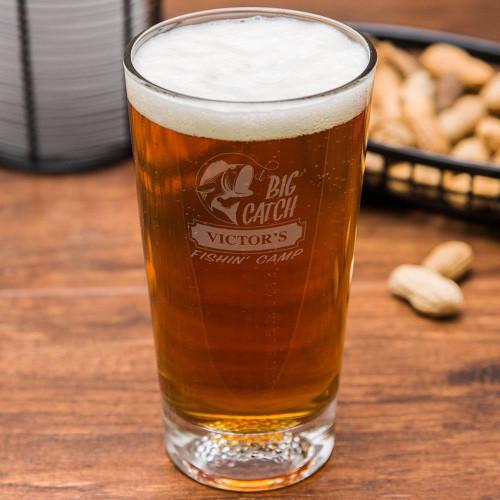 Big Catch Fishin' Camp Golf Beer Glass