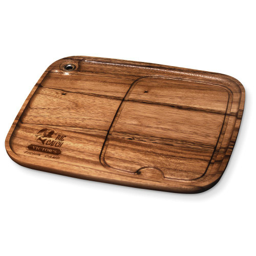 Big Catch Fishin' Camp Wood Steak Plate