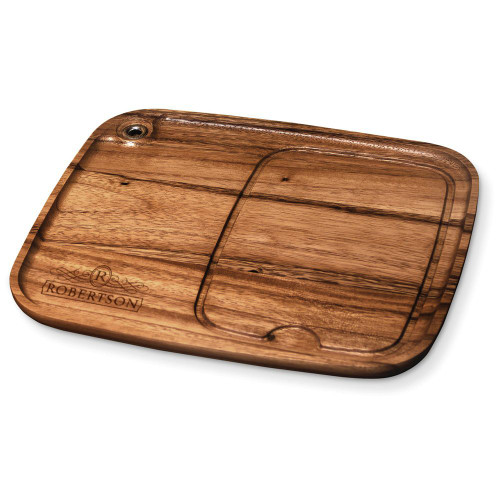 Empire Personalized Wood Steak Plate