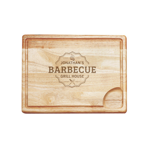 Grill House Personalized Carving Board