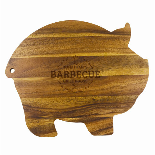 Grill House Personalized Wood Pig Cutting Board