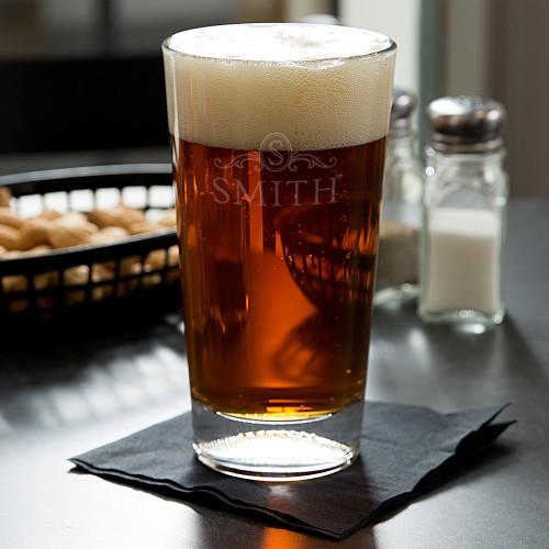 Langham Monogram Football Beer Glass