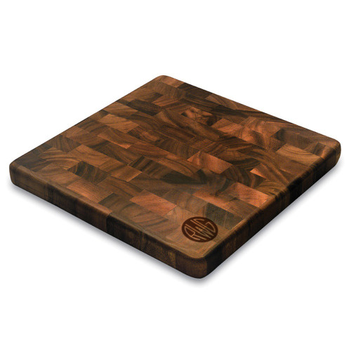 Solid Circle Monogram Square End Graing Cutting Board