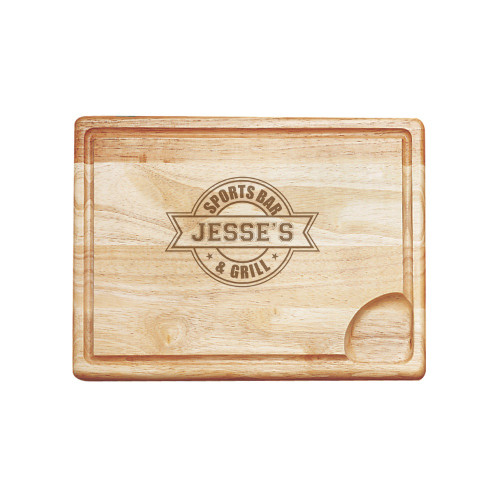 Sports Bar Personalized Carving Board