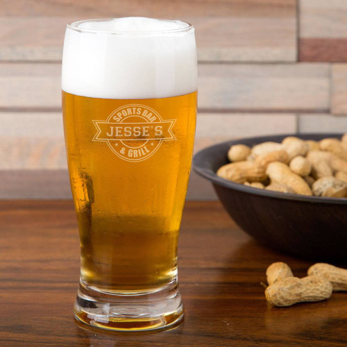 Sports Bar Personalized Pilsner Glass