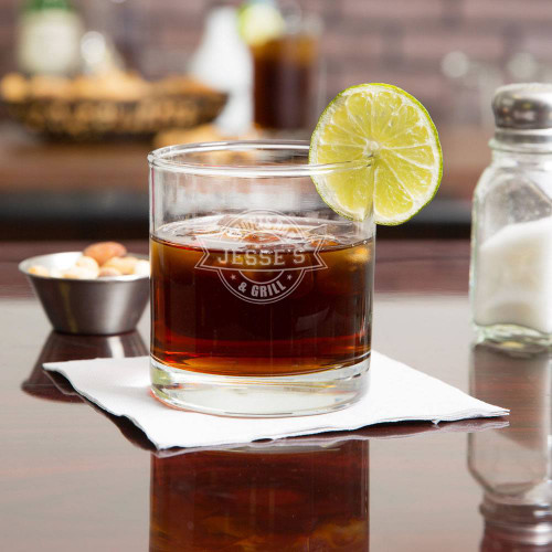 Sports Bar Personalized Whiskey Glass