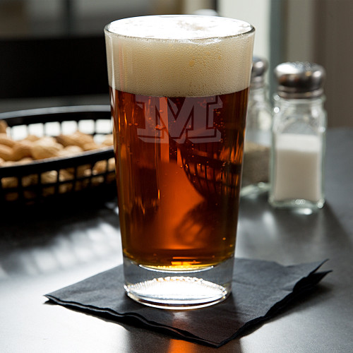 Vienta Initial Personalized Football Beer Glass