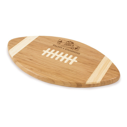 Western Saloon Personalized Football Cutting Board