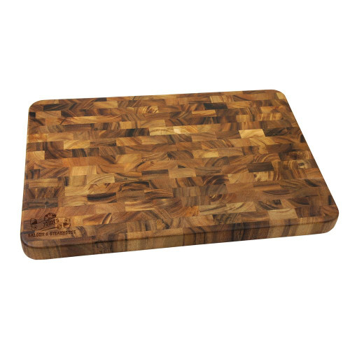 Western Saloon Personalized Large End Grain Cutting Board