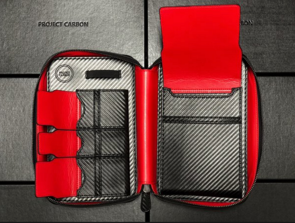 Red Carbon Cigar Travel Case