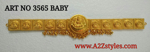 Small Laxmi Round Gold Belt