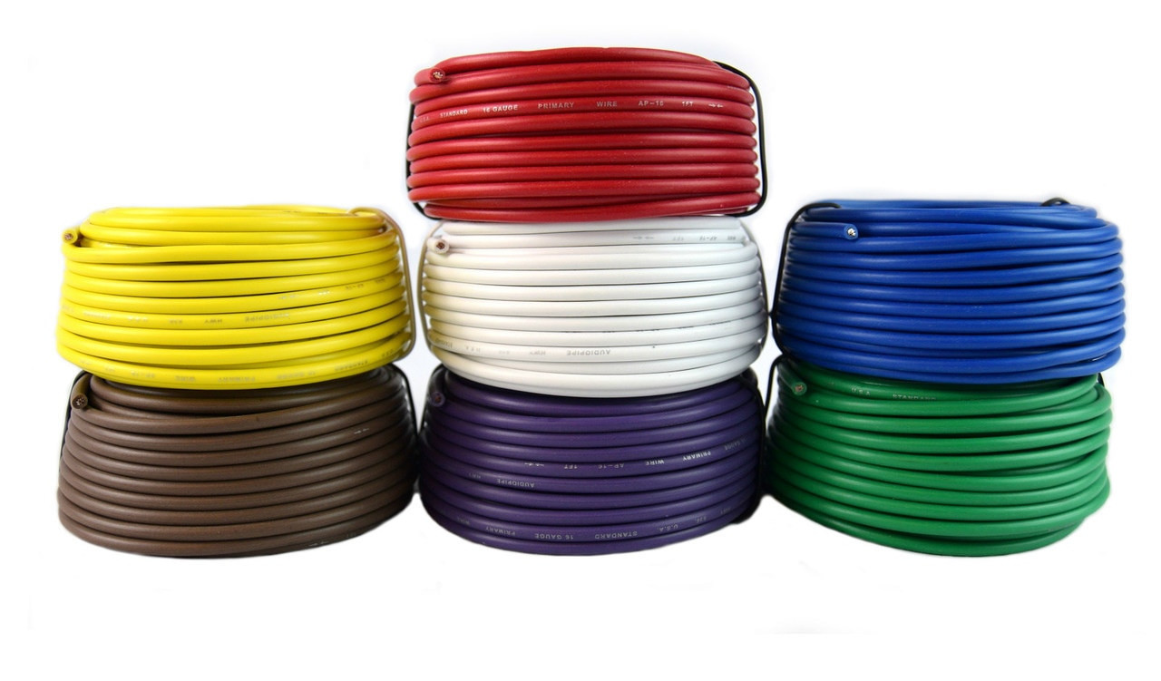 16 Gauge Trailer Light Cable Wiring Harness 25 Feet Each 7 Rolls 175 Feet Total