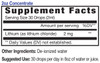 2oz Concentrate Lithium mineral supplement facts - Eidon Ionic Minerals