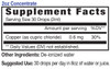 2oz Concentrate Copper mineral supplement facts - Eidon Minerals