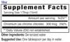 18oz Chromium liquid mineral supplement facts - Eidon Minerals