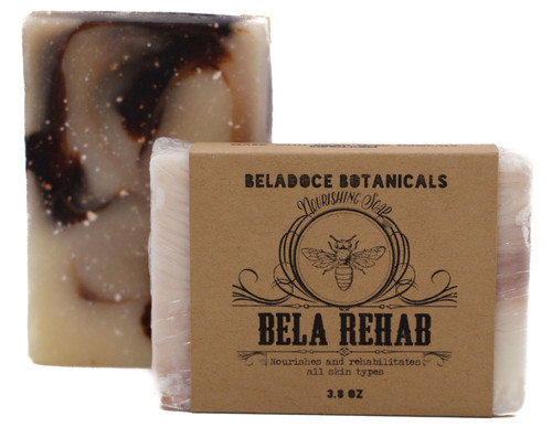Bela Rehab is a natural face and body soap specifically designed with Acutane users in mind, but is also excellent as a gentle wash for topical retinol users, post chemical peels, minor sunburns...