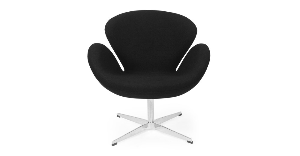 Trumpeter Chair, Black Cashmere