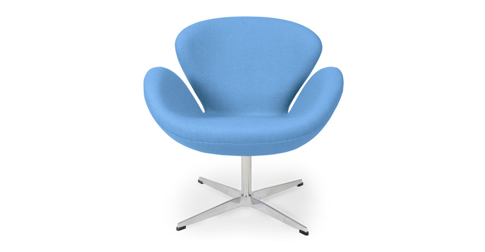 Trumpeter Chair, Baby Blue Cashmere