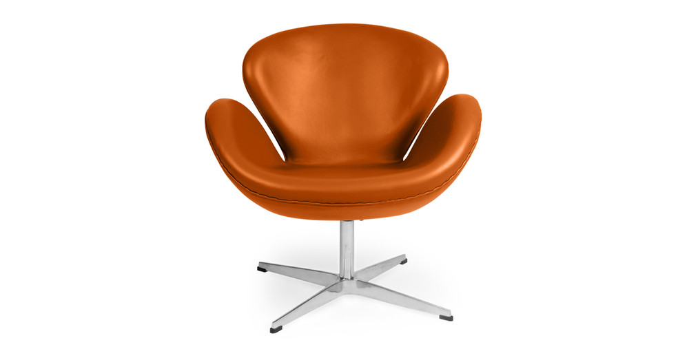 Trumpeter Chair, Caramel Premium Leather