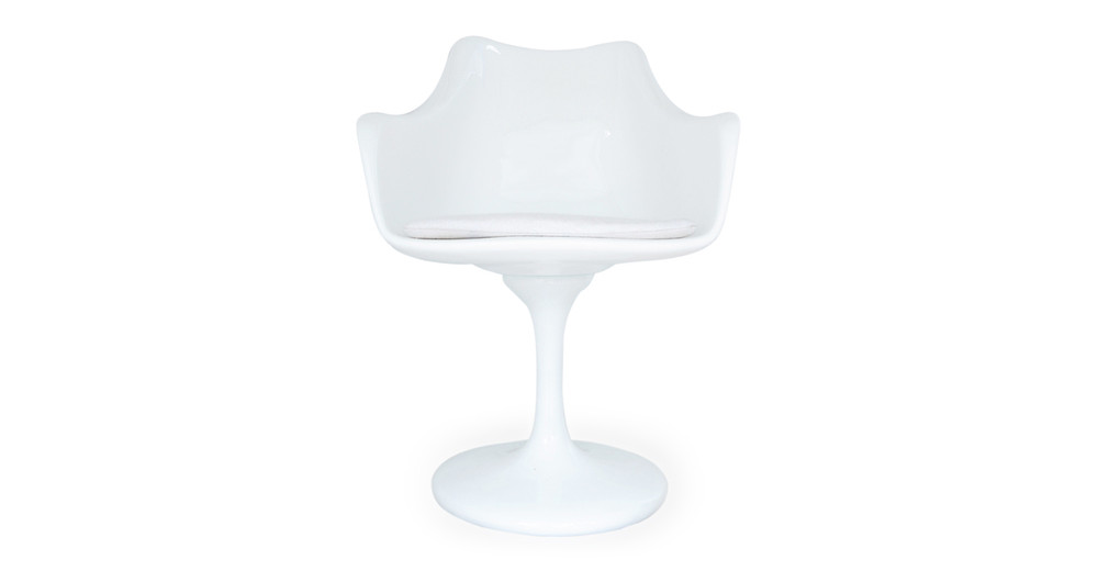 Tulip Armchair, White Wool