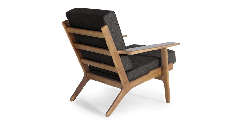 Wegner Plank Chair Charcoal Walnut Stain Kardiel
