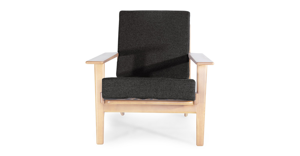 Wegner Plank Chair, Charcoal/Natural