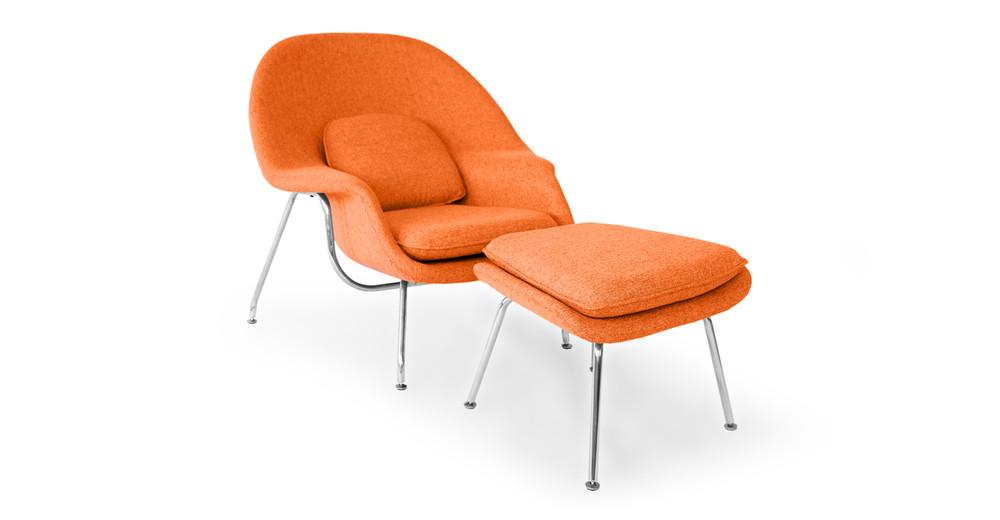 Womb Chair & Ottoman, Cinnabar