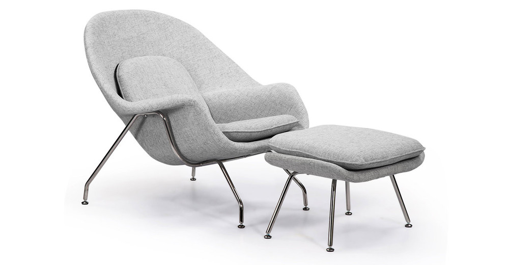 Womb Chair & Ottoman, Dacite