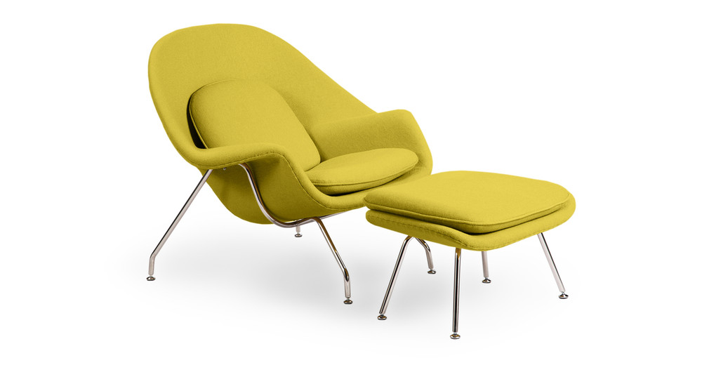 Womb Chair & Ottoman, Dijon