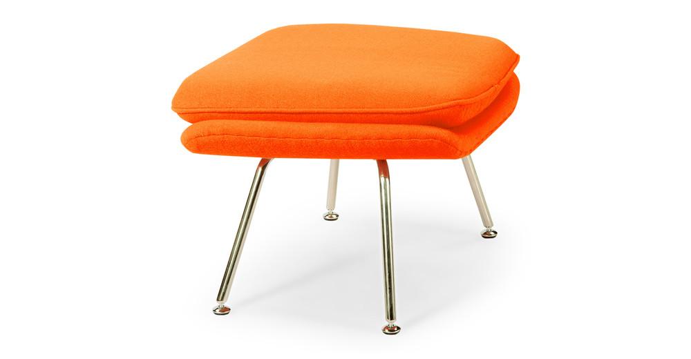 Womb Chair & Ottoman, Orange