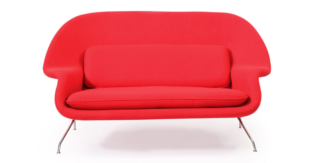 Womb sofa red