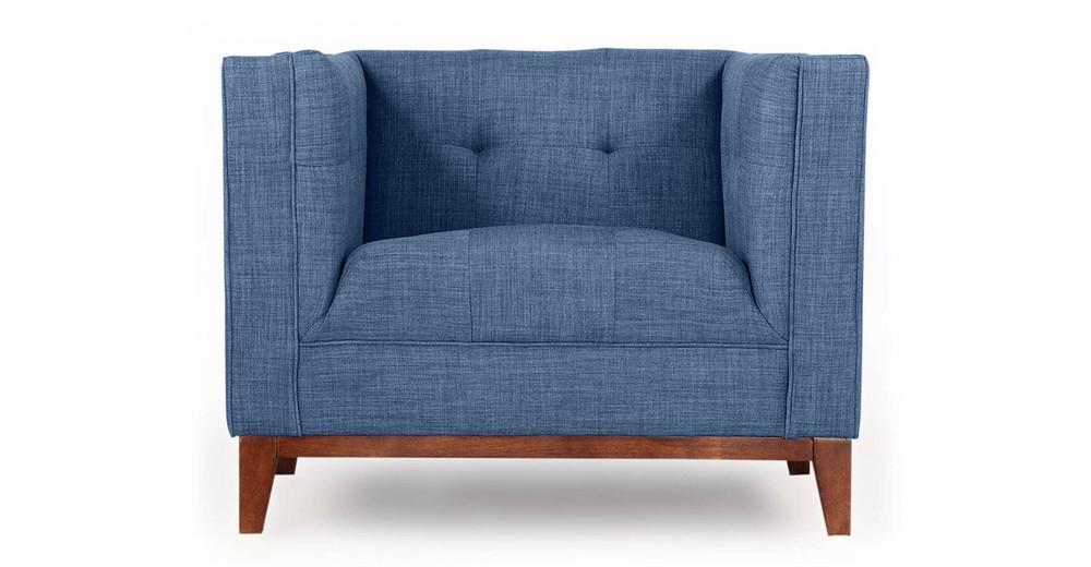 Harrison Chair, Blue Curacao