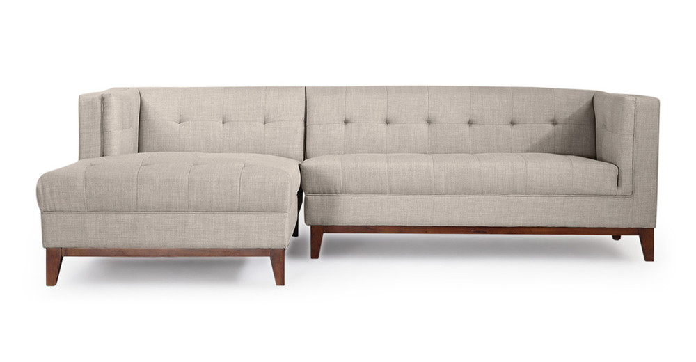 Harrison Chaise Sectional-Left Face, Dove Grey