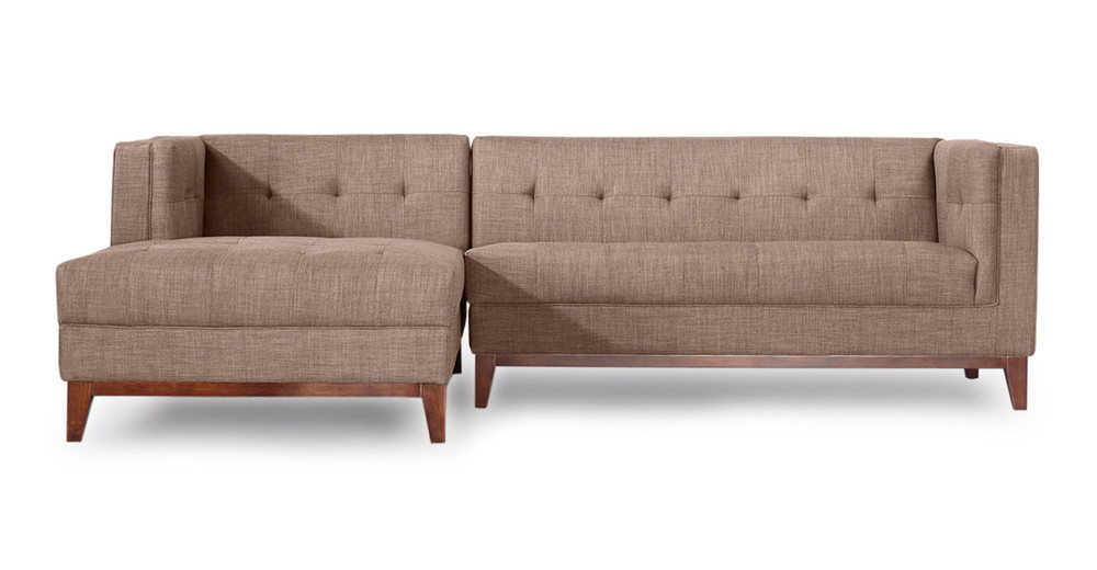 Harrison Chaise Sectional-Left Face, French Press