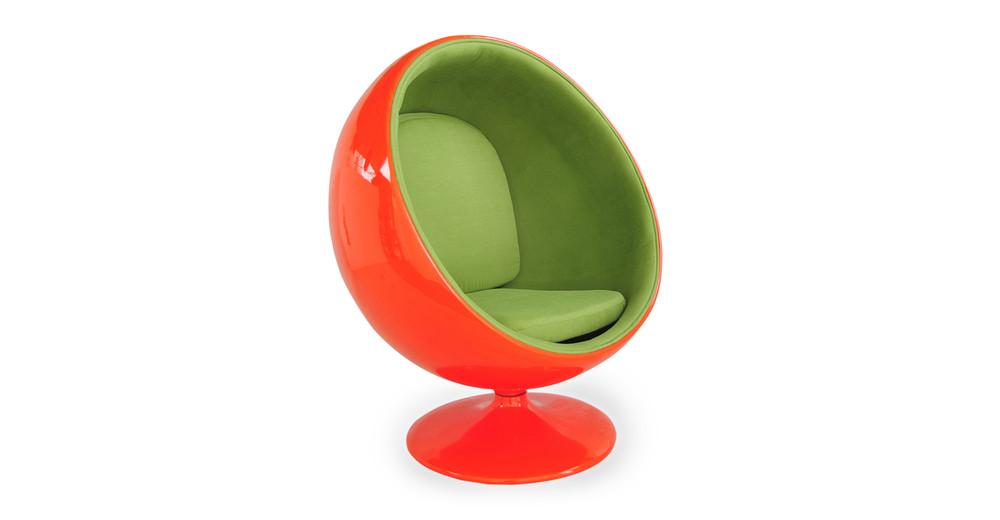 Ball Chair, Orange/Green