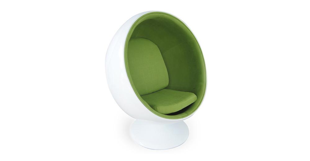 Ball Chair, White/Green