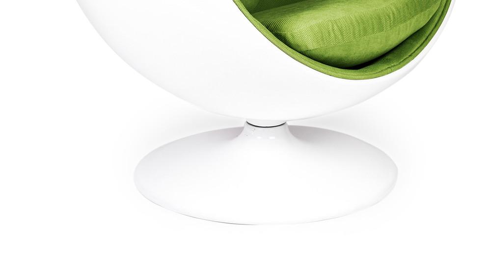 ... Ball Chair, White/Green ...
