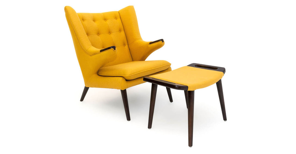 Papa Bear Chair & Ottoman, Sunrise