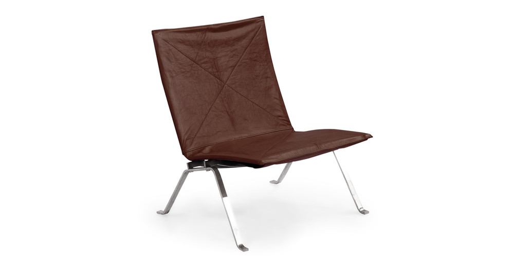 PK22 Chair, Coco Brown Premium Leather