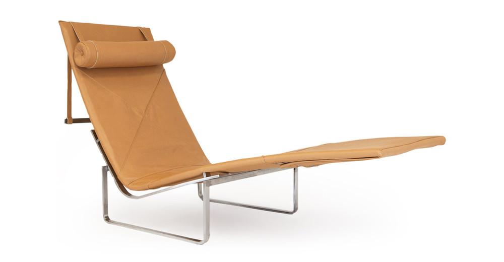 PK24 Lounge Chair, Canyon Premium Leather